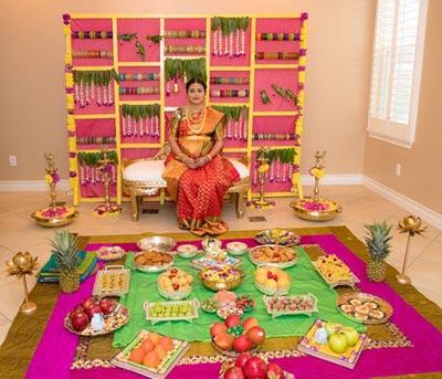 seemantham rangoli designs at home